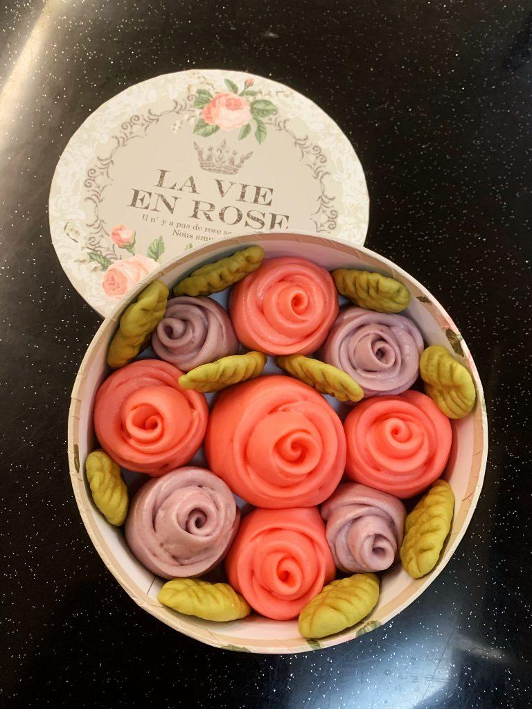 玫瑰饅頭 Rose shape Chinese buns