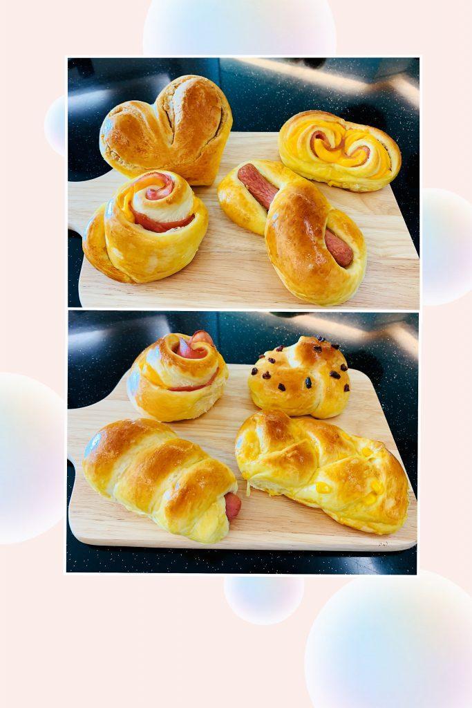腸仔, 火腿蛋及造型麵包